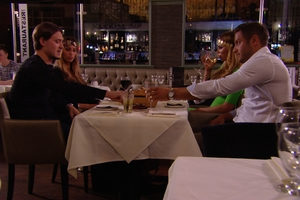 TOWIE's Charlie Sims, Ferne McCann, Chloe Sims and Elliott Wright met for dinner to resolve differences, 29 June 2014