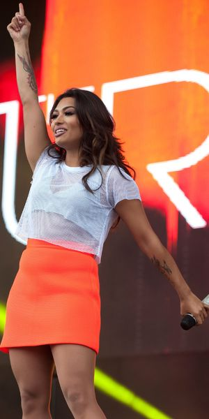 Vanessa White and The Saturdays perform at East Coast Live, Chantry Park, Ipswich, Britain - 28 Jun 2012