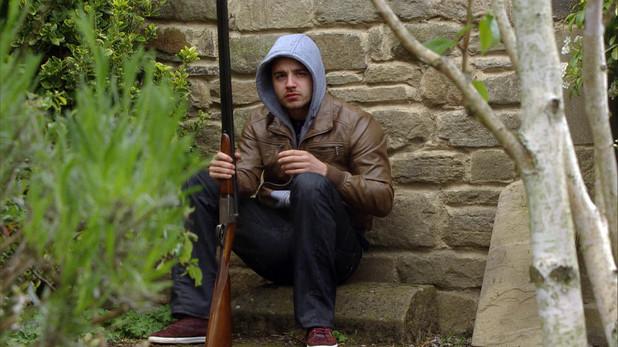 Emmerdale, Adam has a gun, Fri 27 Jun