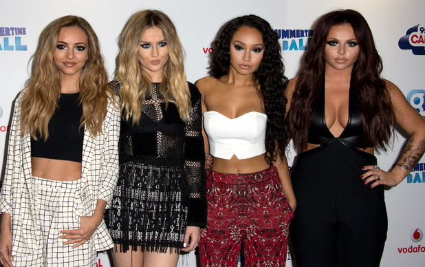 Little Mix - Perrie Edwards, Jesy Nelson, Leigh-Anne Pinnock, Jade Thirlwall - at the Capital FM Summertime Ball 2014 held at Wembley Arena - Arrivals 06/21/2014 London, United Kingdom.