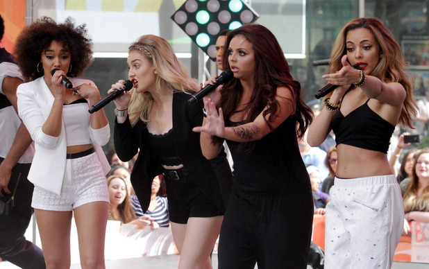 Little Mix - Jade Thirlwall, Jesy Nelson, Leigh-Anne Pinock, Perrie Edwards - at the Today Show. New York City, United States 06/17/2014