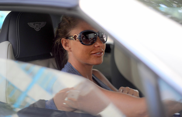 Katie Price arrives at Fubar Radio - 17 June 2014