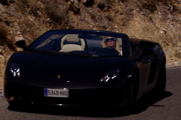 TOWIE's Gemma Collins turns up to see Bobby Norris in Marbs in a Lamborghini - 25 June 2014