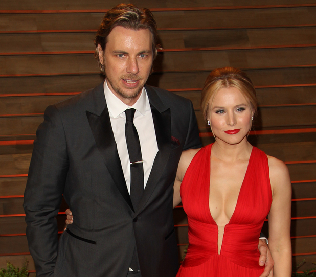Kristen Bell and Dax Shephard at the 2014 Vanity Fair Oscar Party in West Hollywood, 2014