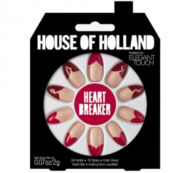 House of Holland by Elegant Touch Heartbreaker false nails