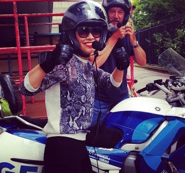 Myleene Klass races to Ava's sports day, Instagram, 24 June