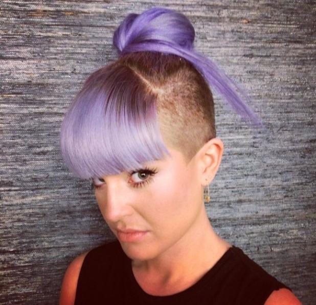 Kelly Osbourne Purple Hair Bangs