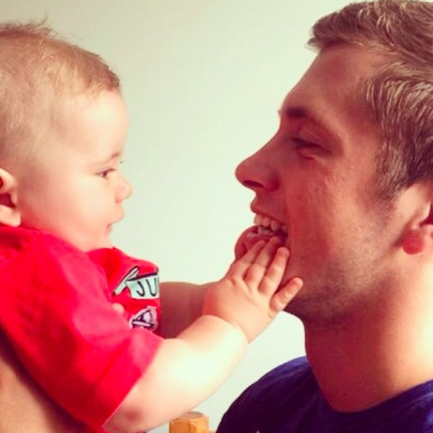 TOWIE's Dan Osborne shares adorable picture of son Teddy, 27 June 2014