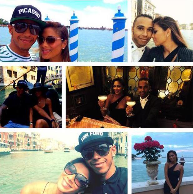 Lewis Hamilton and Nicole Scherzinger celebrate their sixth anniversary in Venice (23 June).