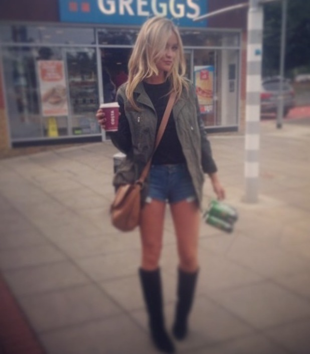 Laura Whitmore in Glastonbury outfit, 27/06/14