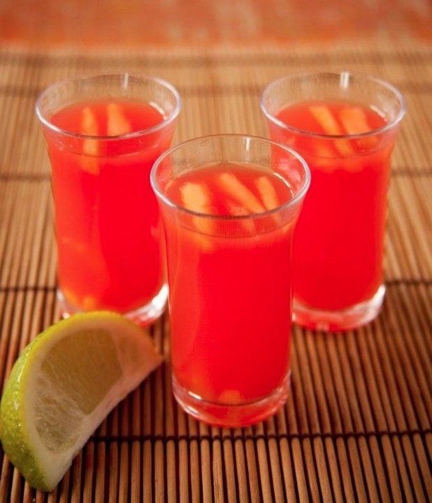 Tropical rum jellies