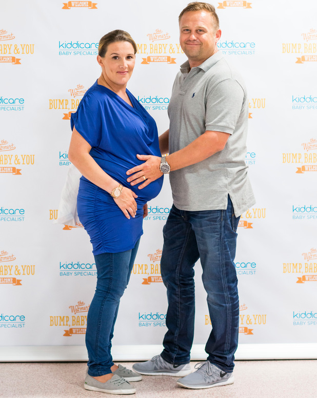Pregnant Sam Bailey and husband Craig at Kiddicare, Peterborough - 23 June 2014