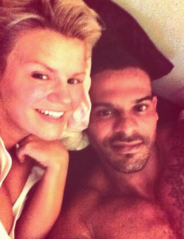 Kerry Katona and George Kay enjoy a bedtime cuddle - 24 June 2014