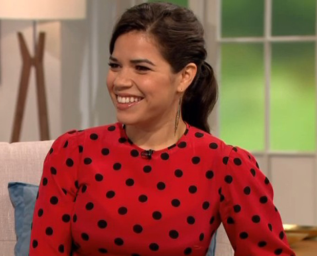 America Fererra appearing on ITV's Lorraine, London, 23 June 2014