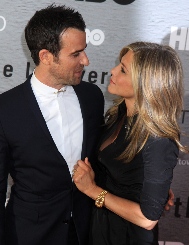 "Justin Theroux and Jennifer Aniston at premiere of ""The Leftovers"" at NYU Skirball Center, New York, 23 June 2014"
