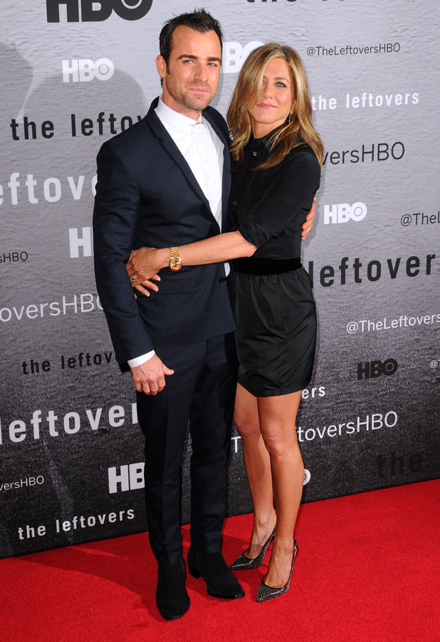 """Justin Theroux and Jennifer Aniston at premiere of """"The Leftovers"""" at NYU Skirball Center, New York, 23 June 2014"""