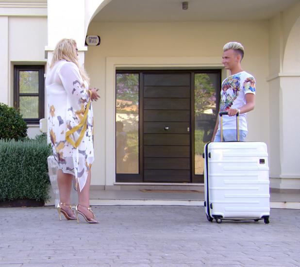 Harry Derbidge and Gemma Collins have a conversation in Marbella, TOWIE episode airs 25 June 2014