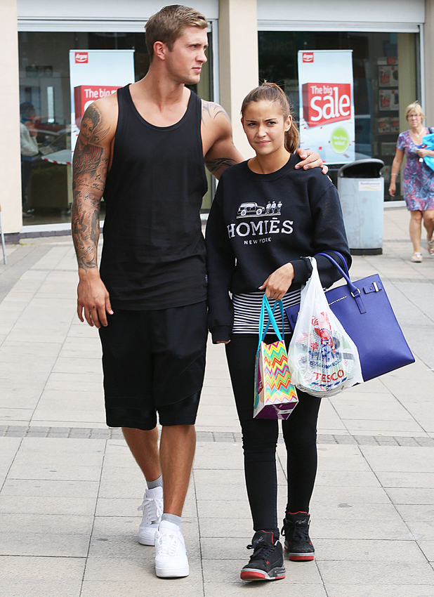 Dan Osborne and Jacqueline Jossa out and about in Borehamwood, Hertfordshire, Britain - 26 Jun 2014