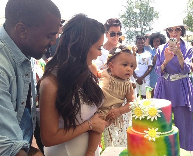Kim Kardashian and Kanye West celebrate daughter North's first birthday, 21 June 2014