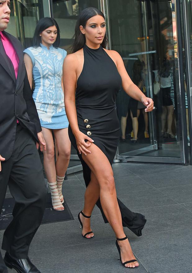 Kim Kardashian and Kylie Jenner en route to Khloe's 30th birthday party, New York, America - 26 Jun 2014
