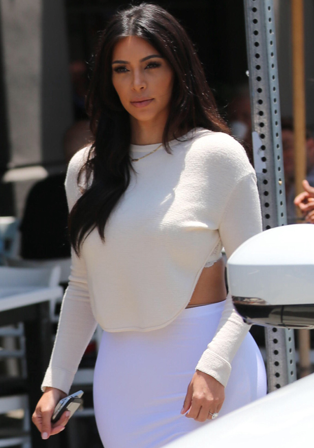 Kim Kardashian seen leaving Toast after filming Keeping Up With The Kardashians, LA, 23 June 2014