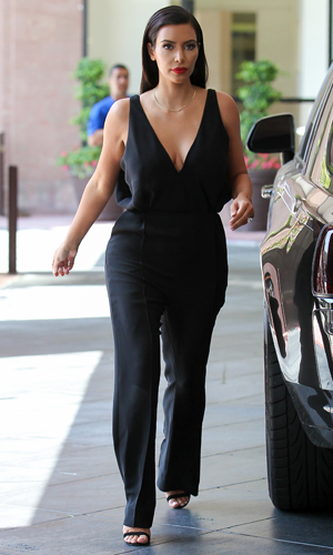 Kim Kardashian leaves a studio in Los Angeles, 24 June 2014