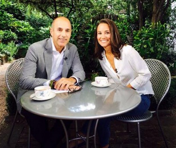 Pippa Middleton and Matt Lauer on NBC's Today Show, 25 June 2014