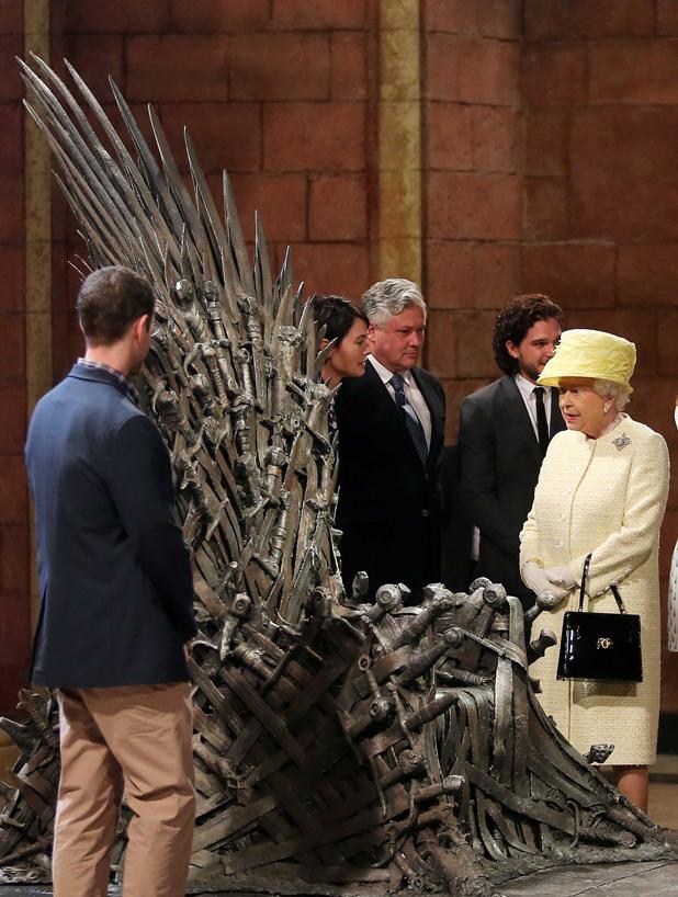 Queen Elizabeth II visits the set of 'Games of Thrones', Belfast, Northen Ireland, Britain - 24 Jun 2014