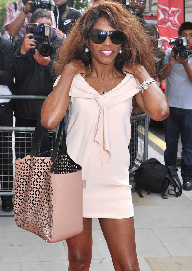 Sinitta, The X Factor - press launch held at the Corinthia Hotel. London, England - 16.08.12