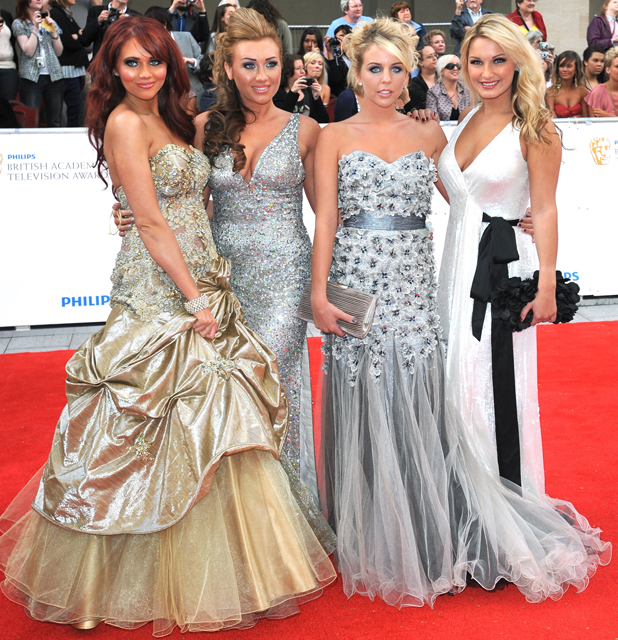 Amy Childs, Lauren Goodger, Lydia Rose Bright AKA Lydia Bright and Sam Faiers, 2011 Philips British Academy Television Awards (BAFTAs) held at the Grosvenor House - Arrivals. London, England - 22.05.11