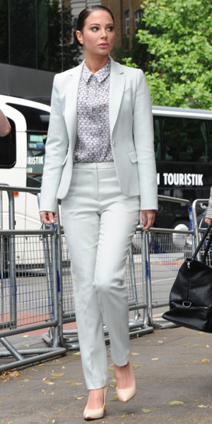 Tulisa Contostavlos arrives at Southwark Crown Court in London, 27 June 2014