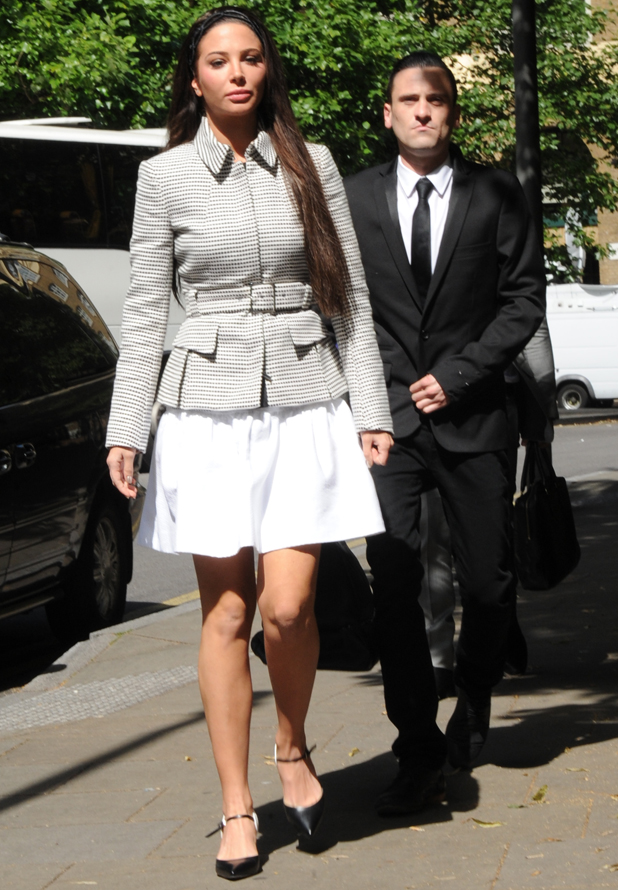 Tulisa arriving at Southwark Crown Court, London, 25 June 2014