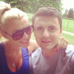 Pregnant TOWIE star Billie Faiers enjoys some park life with fiancé Greg Shepherd, 5 July 2014