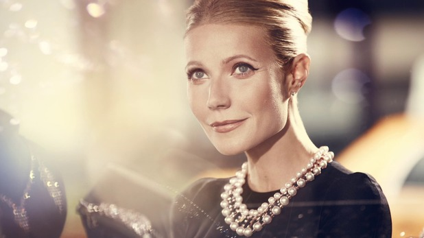Gwyneth Paltrow shows off a make-up look from the 1950s for the Max Factor 100 Years of Glamour campaign - 1 July 2014