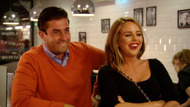 The Only Way Is Essex preview: James 'Arg' Argent and Lydia Bright enjoy some friendly drinks. Airs: 2 July 2014.