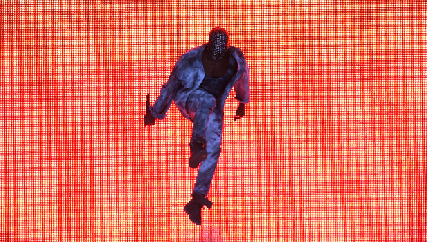 Kanye West performs at Wireless, 4 July