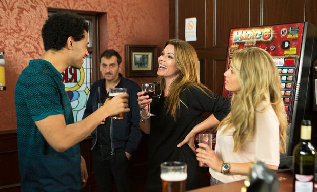 Corrie, Carla flirts with Luke, Mon 7 Jul