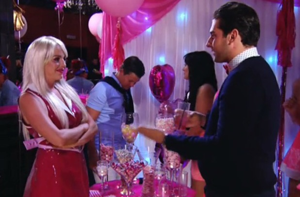 James 'Arg' Argent and Lydia Bright discuss their friendship at Barbie and Ken party - 30 June 2014