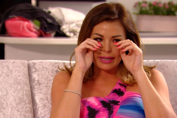 Jess Wright crying on TOWIE, 6/7/14