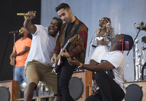 Rudimental - Glastonbury Festival 2014 - Performances - Day 2. 06/27/2014 Glastonbury, United Kingdom