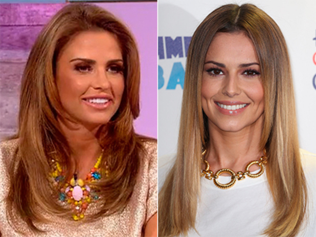Katie Price and Cheryl Cole composite - 1 July 2014