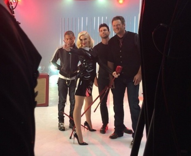Gwen Stefani shares behind the scenes photo of season 7 of The Voice US coaches - 30 June 2014.