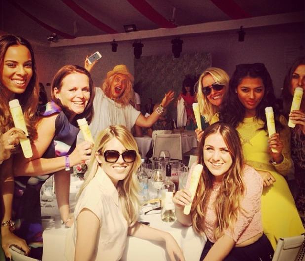 Frankie Sandford celebrates her hen do, 5.7.14