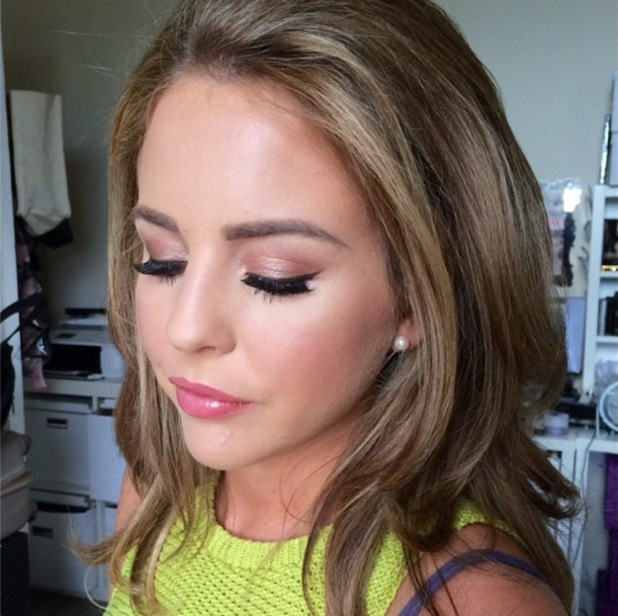 TOWIE's Lydia Bright shows off a make-up look by Krystal Dawn - 1 July 2014