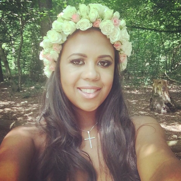TOWIE's Danni Park-Dempsey wears a floral headband on shoot - 3 July 2014