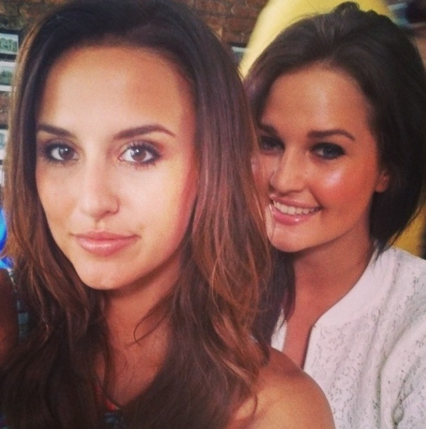 Lucy Watson and Riley Uggla pose for selfie in New York (27 June 2014).