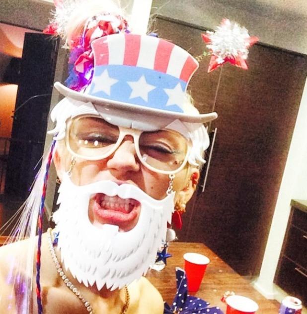 Miley Cyrus celebrates 4th July