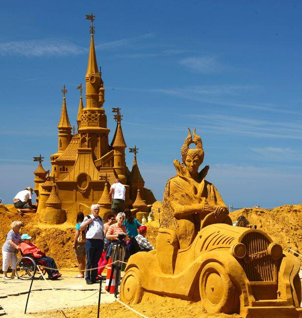 Sand Sculpture Festival in Oostende, Belgium