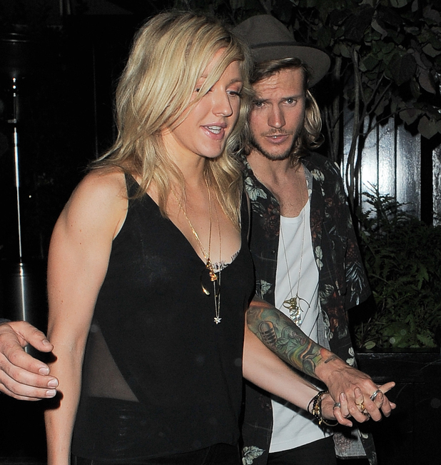 Ellie Goulding and Dougie Poynter at the Chiltern Firehouse in Marylebone 06/24/2014 London, United Kingdom