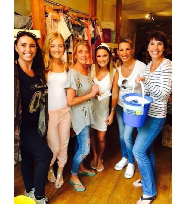 Sam Faiers and friends at Minnies charity event, 28 June